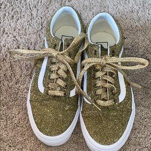 Vans- Old Skool Lurex Glitter Gold Sneakers